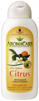 PPP AromaCare™ Citrus Flea Defense Sampon, 13.5 oz. (400 mL) PARABEN MENTES!