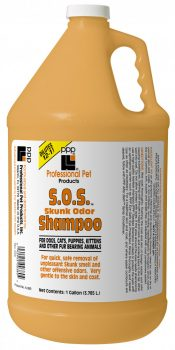 PPP Skunk Odor Shampoo (SOS™), 1 gal.  (3.785 L) Dilutes 12-1