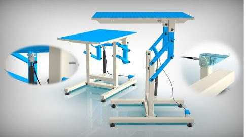 Kutyakozmetikai asztal (Kék)