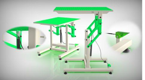 Kutyakozmetikai asztal (Zöld)